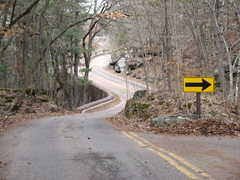 Rock Climbing Photo: Looking back up to the road towards the entrance. ...