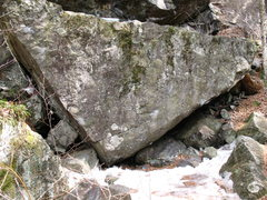 Rock Climbing Photo: The Pharaoh Boulder or Point Down boulder. Main pr...