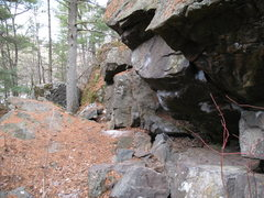 Rock Climbing Photo: Cave boulder, right side.