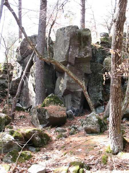 "Rock Climbing Photo: From further afar. Peeler's Rock, aka ""Big Bo..."