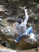 Rock Climbing Photo: Nic moving up into the undercling of Midget, on &q...