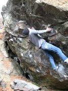 Rock Climbing Photo: Nic finishing Oxygen Cocktail.