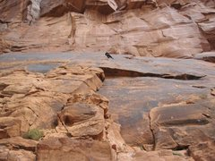Rock Climbing Photo: brooke working through the crux