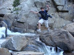 Rock Climbing Photo: I swear the water level rose at least 6 inches fro...