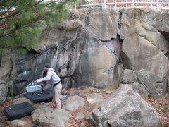 Rock Climbing Photo: The Boneyards. Lloyd's, Left of Lloyd's, Spidertra...