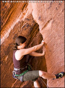 Rock Climbing Photo: Starting up the flake to Fool's Gold 10b