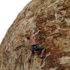 me leading Good Mourning on the Wake Up Wall in Red Rocks