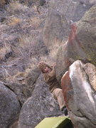 Rock Climbing Photo: Tory finishing up on the upper section of Fingers ...