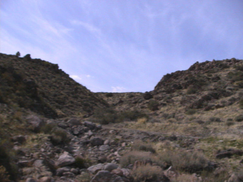 A view of the ravine boulders.