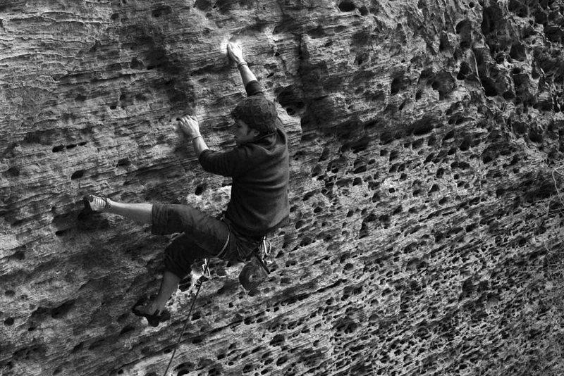 Rock Climbing Photo: Jason on Up Yonder...