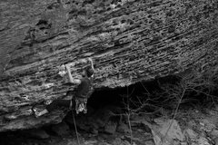 Rock Climbing Photo: James Otey starting up his onsight of Up Yonder...