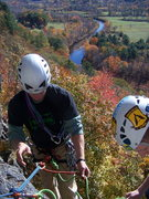 Rock Climbing Photo: View from first pitch belay