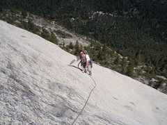 Rock Climbing Photo: Crested Jewel, North Dome Yosemite