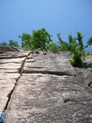 Rock Climbing Photo: Toe Crack 2nd Pitch