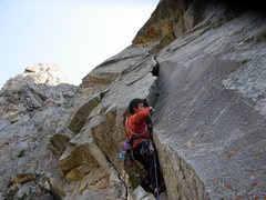 Rock Climbing Photo: Pat Mac deals with the overhanging start to the se...