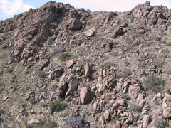 Rock Climbing Photo: The right side of the ravine boulders. The Three S...