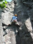 Rock Climbing Photo: Just past the crux of The Flake
