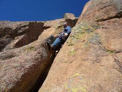 Rock Climbing Photo: Start of the last pitch.