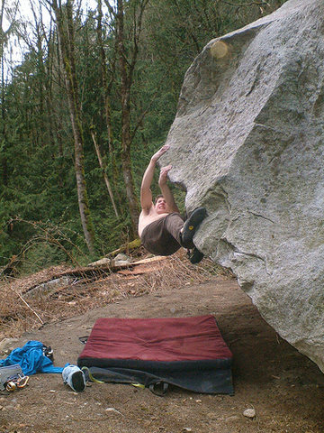 Marc-Andre on the crux crossover