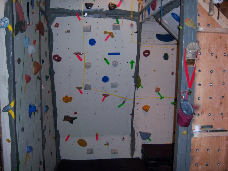 Rock Climbing Photo: Home wall 2
