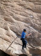 Rock Climbing Photo: It's a long way down Slashface (V3 R), Joshua Tree...