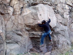 Rock Climbing Photo: Bouldering at North Table, North Quarry Area Golde...