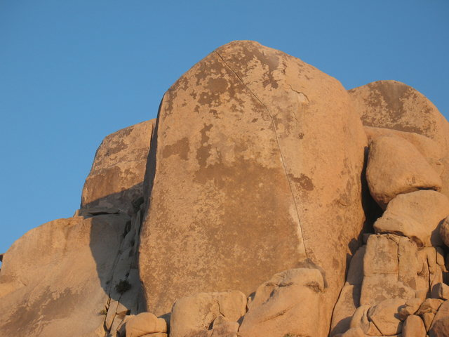 Rock Climbing Photo: Spot the line - Equinox (5.12c), Joshua Tree NP