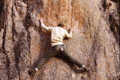 Rock Climbing Photo: Bouldering somewhere up there (1976), anyone know ...