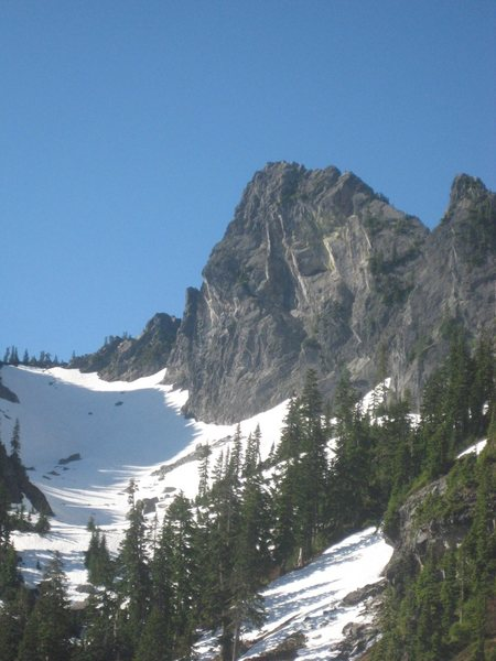 Rock Climbing Photo: South face is the left side of the Tooth in this p...