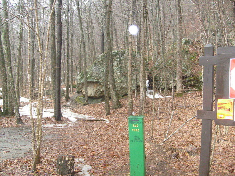 Walk in here and just past those first two boulders is where the fun begins!