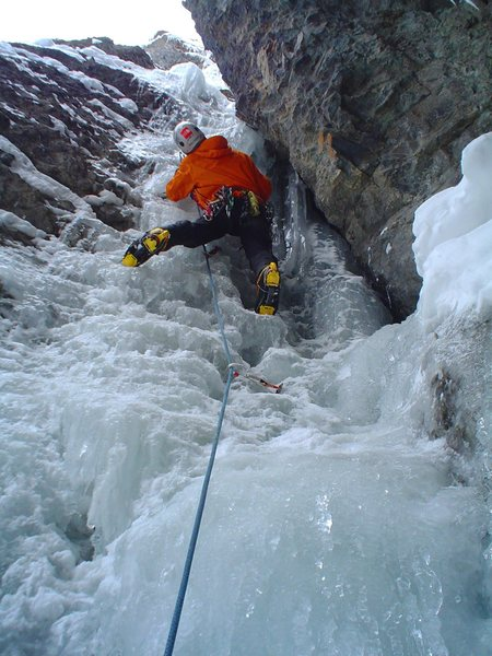 Rock Climbing Photo: My first lead up Camp Bird Road.  Slippery When We...
