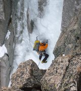 Rock Climbing Photo: Screwing around on lead.  bhoto by Scott Borger (c...