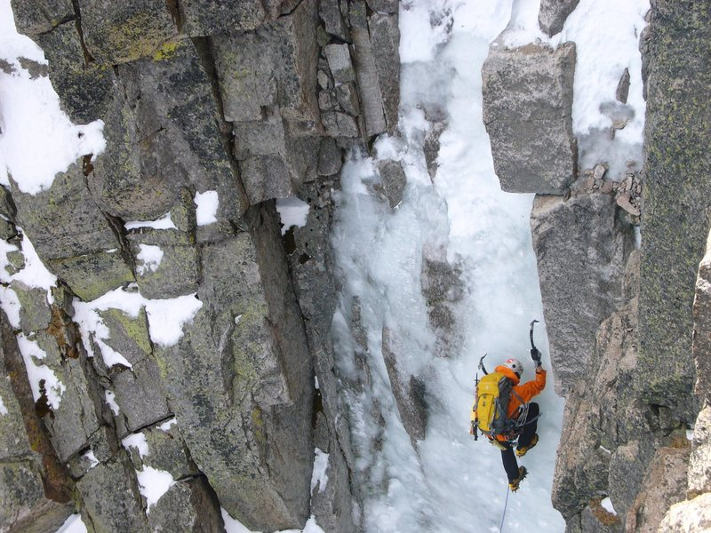 Rock Climbing Photo: High on ice... bhoto by Scott Borger (copyright, 2...