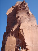 Rock Climbing Photo: Feeling a bit intimidated...P1 of Fine Jade.