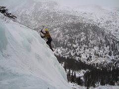 Rock Climbing Photo: Eric at Lincoln Falls, Scottish Gulley, December 2...