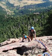Rock Climbing Photo: Mike & brenta following last pitch on The Thang. 2...