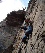 Rock Climbing Photo: Looks steep doesn't it?  Heh.
