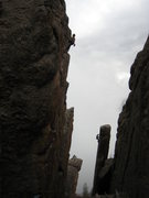 Rock Climbing Photo: The Monastary.  Ander Rockstad on the left, Dan Da...