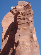 Rock Climbing Photo: Almost at the top of P1, what a long, varied, and ...