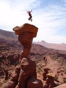 Rock Climbing Photo: Jumping for joy on The Cobra (probably shouldn't d...