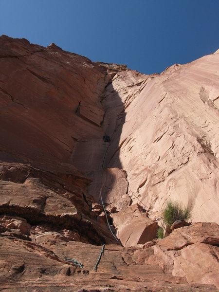 Rock Climbing Photo: Eric on P1 of 1....