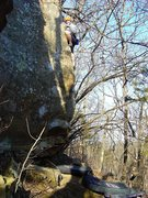 Rock Climbing Photo: John Sweatpants Freaney on the 2nd ascent.  Nice w...