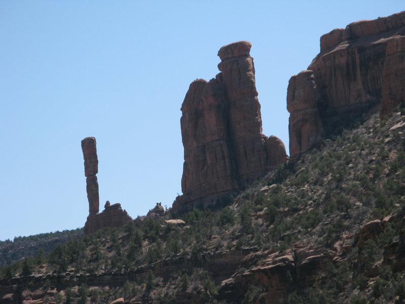 That tower is crazy! If the rock is anything like what we climbed I don't think I could do it.