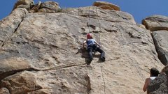 Rock Climbing Photo: Andrea Dunmoyer on the route