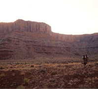 Rock Climbing Photo: Hiking up Dripping Springs Basin with Amazon Tower...
