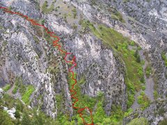 Rock Climbing Photo: Shows the new and improved trail. There is soon to...