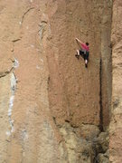 Rock Climbing Photo: This pic shows the location of the first two bolts...