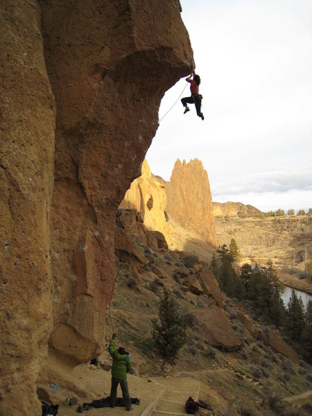 Rock Climbing Photo: Kayte showing us all how they roll on the East Coa...