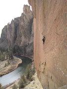 Rock Climbing Photo: Finishing up the fun slab.
