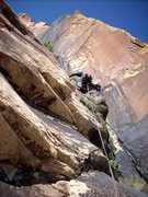 Rock Climbing Photo: In the left-facing corner system